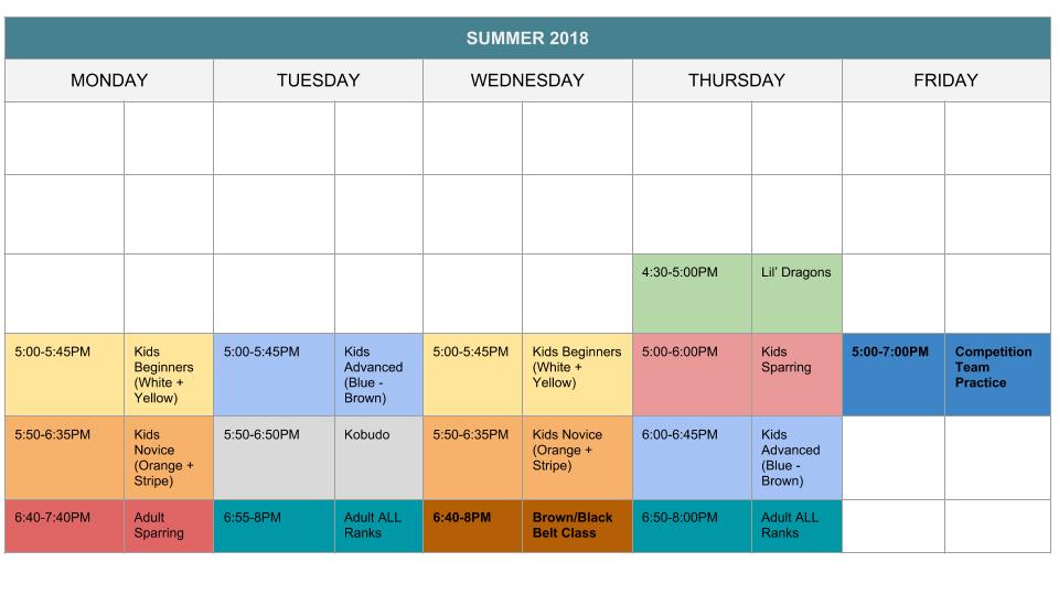 karate-schedule-summer