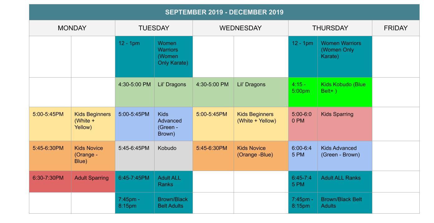 schedule-fall2019